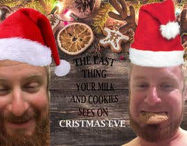 #10 cho I'd like a Santa hat photo shopped on both pictures of the guy and then combined together with the text shown on the first picture. This will be a Christmas card so feel free to add other Christmas-like images like lights around the photo...etc. bởi abaraf59