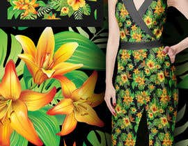 #29 for Graphic design for floral print to be used on fabric by zmdes
