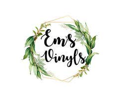 "#47 untuk I want a logo that says ""Em's Vinyls"" I want it to be feminine. I love the colors olive green, and white. I love boho and farmhouse style. I am using this logo for my business of vinyl cups, tshirts, car decals, etc.  - 17/11/2019 12:37 EST oleh nhussain7024"