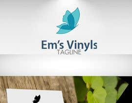 "#23 untuk I want a logo that says ""Em's Vinyls"" I want it to be feminine. I love the colors olive green, and white. I love boho and farmhouse style. I am using this logo for my business of vinyl cups, tshirts, car decals, etc.  - 17/11/2019 12:37 EST oleh DesignTraveler"