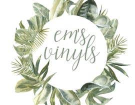 "#40 untuk I want a logo that says ""Em's Vinyls"" I want it to be feminine. I love the colors olive green, and white. I love boho and farmhouse style. I am using this logo for my business of vinyl cups, tshirts, car decals, etc.  - 17/11/2019 12:37 EST oleh susanship"