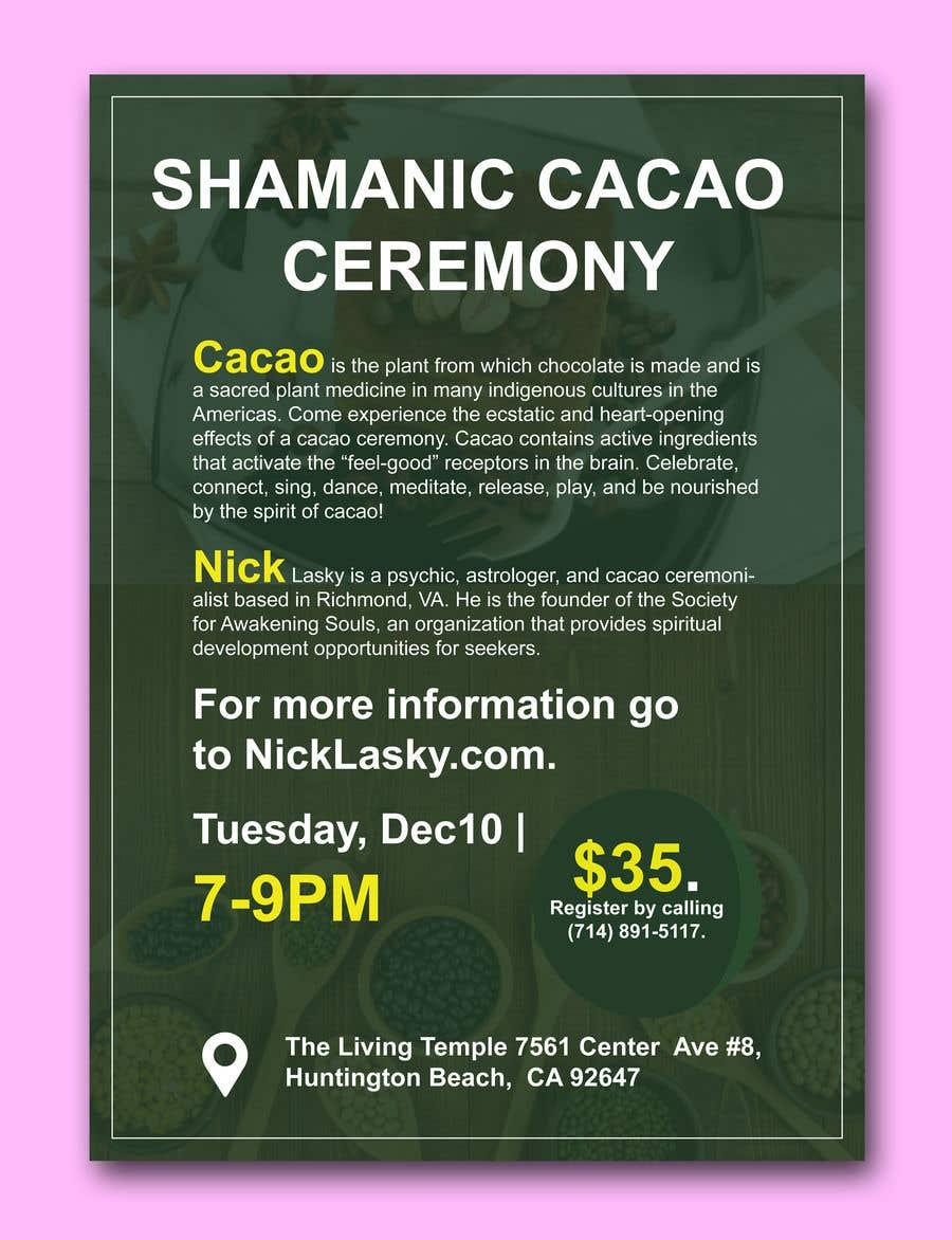 "Intrarea #51 pentru concursul ""Flyer for Cacao Ceremony"""