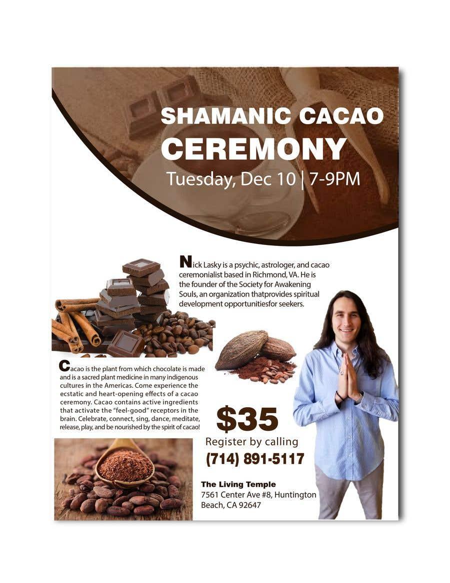 "Intrarea #62 pentru concursul ""Flyer for Cacao Ceremony"""