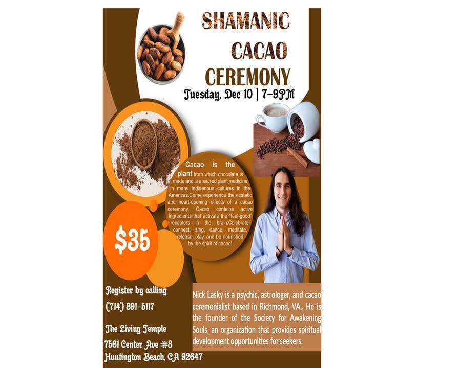 "Intrarea #6 pentru concursul ""Flyer for Cacao Ceremony"""