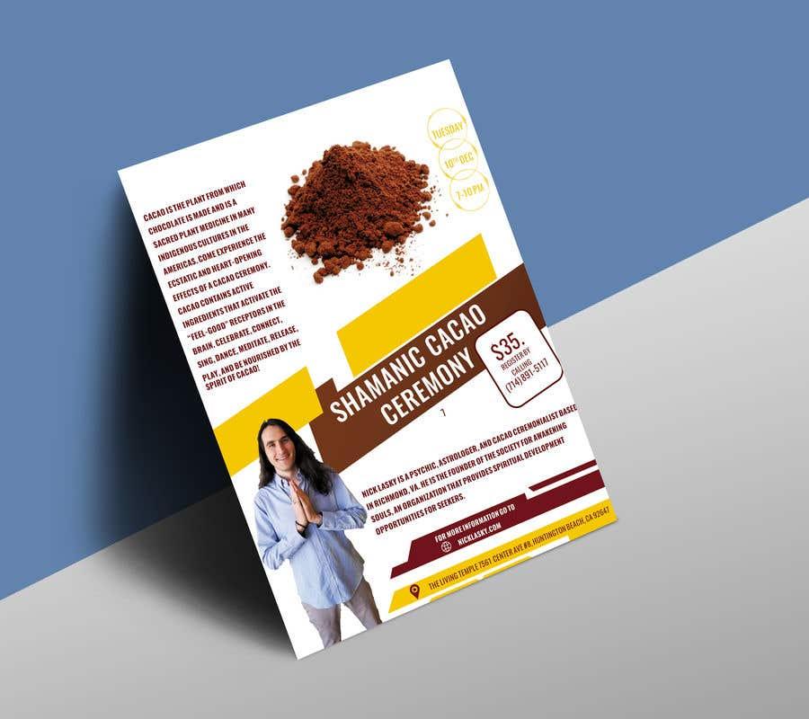 "Intrarea #10 pentru concursul ""Flyer for Cacao Ceremony"""