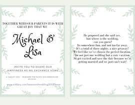 nurnabilah98 tarafından Wedding Invitation için no 6
