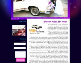#4 for Website Design for 1 page (Antique Cars rental) af lorikeetp9