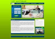 Website Design for 1 page (Antique Cars rental) için Graphic Design1 No.lu Yarışma Girdisi