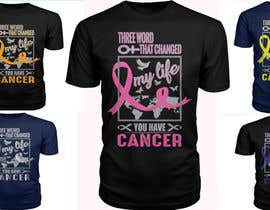 #13 untuk I want a T shirts for cancer awareness.  The word Cancer should be in different colors to represent the different types of Cancer.  This will be placed on a dark colored shirt. oleh raju2mr