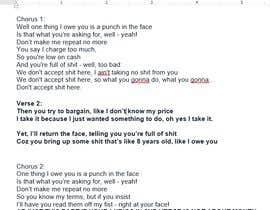 #10 pentru Write lyrics for the second verse of the song de către reky04032015