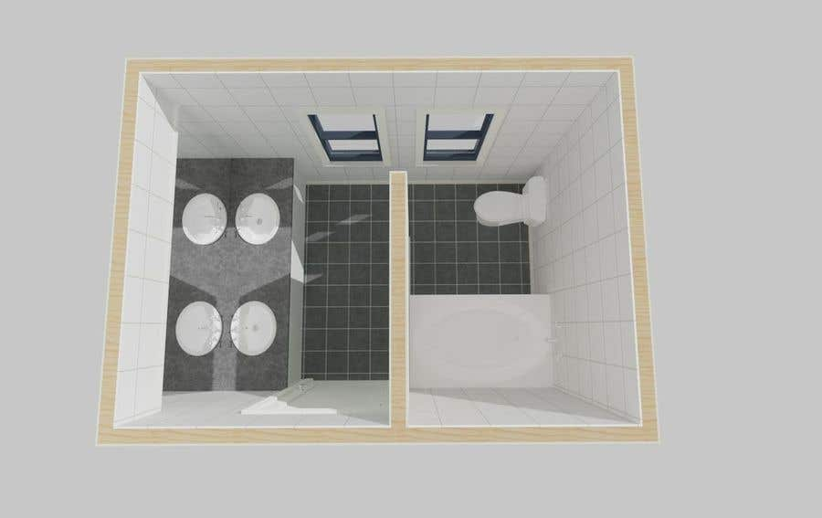 Bài tham dự cuộc thi #9 cho 2D & 3D Bathroom Rendering Design In Color & Floor Plan-3 Different Views