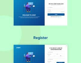 #36 for CSS styling for a webpage register and login page by sirajkhan1992