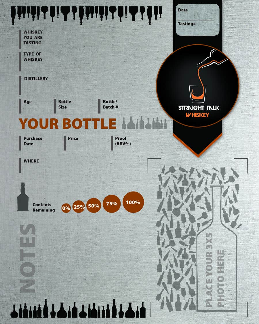 Konkurrenceindlæg #                                        9                                      for                                         Create 2-Sided Print Design for a Whiskey Enthusiast Product