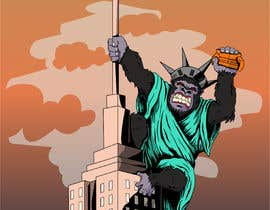 #32 для Vector: King Kong on Empire State Building with additional details от chie77