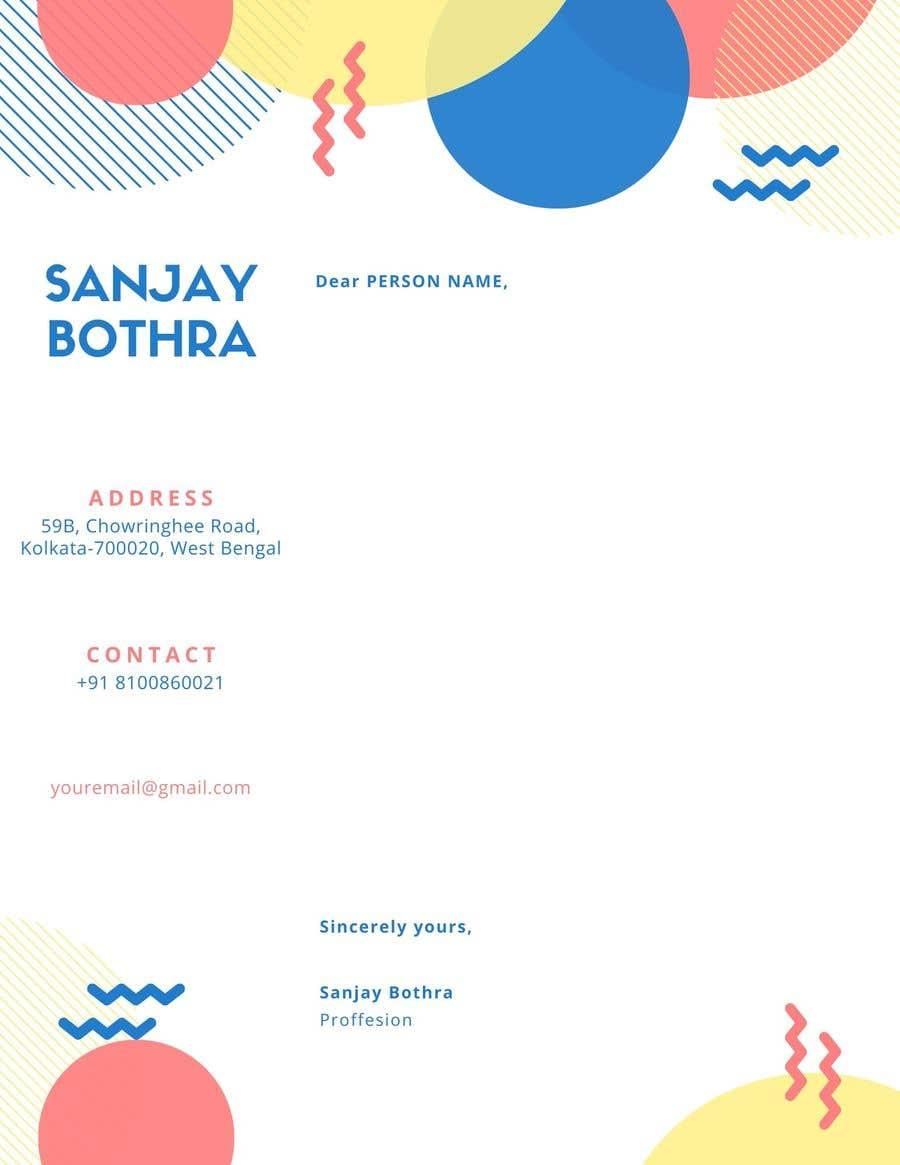 Konkurrenceindlæg #                                        1                                      for                                         Letterhead design