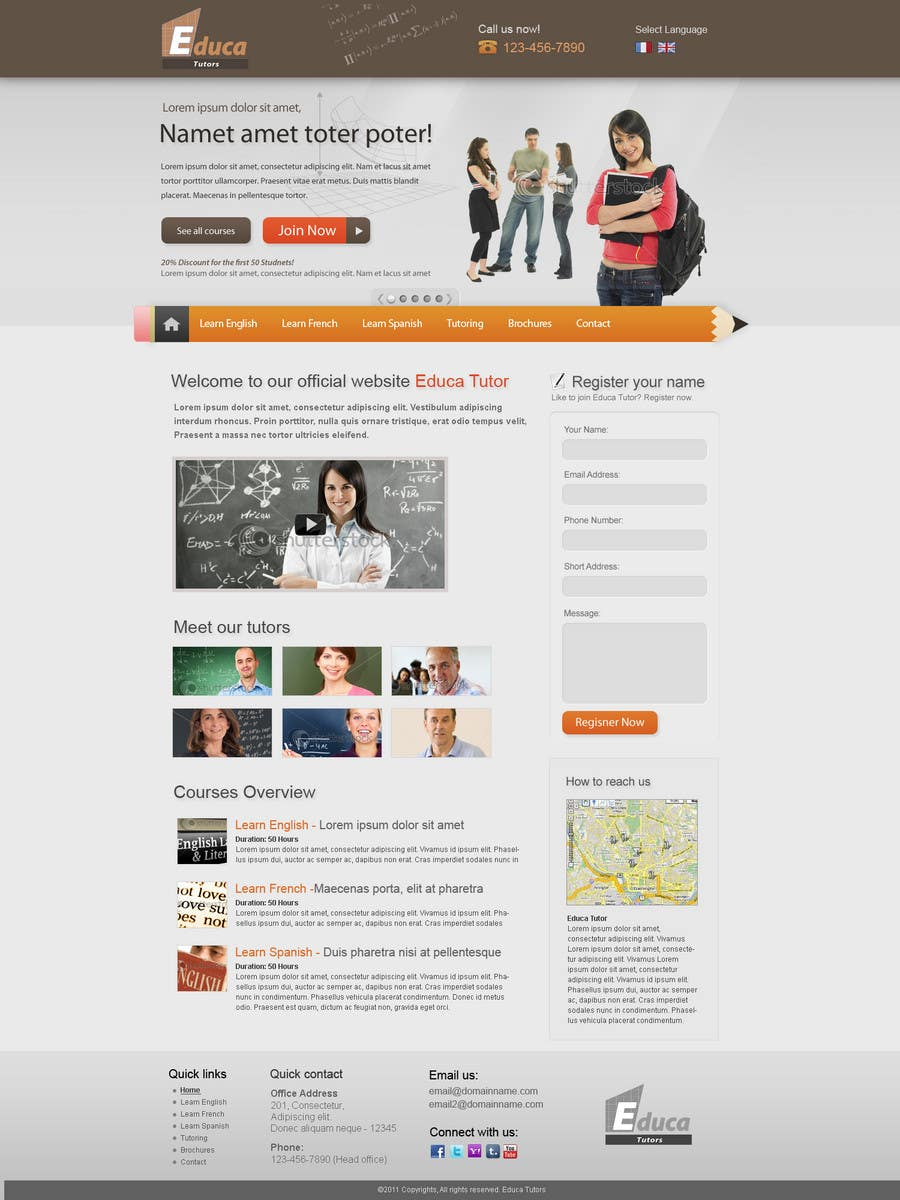 Participación en el concurso Nro.8 para Website Design for Educa Tutors