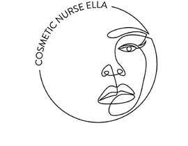 """#21 cho I need a fine line drawing of a female's face inside a fine black circle. I want the words """"Cosmetic Nurse Ella"""" in the upper left hand corner in a fine line font like in the example. bởi fiq5a69f88015841"""