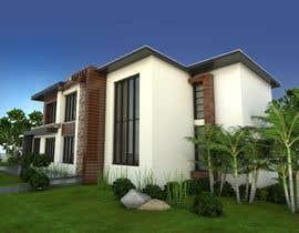 #40 untuk Design a contemporary facade for a new house oleh IREKAB34