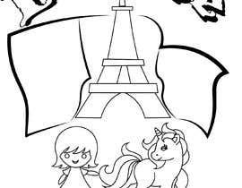 #17 for Colouring eBook Illustration for Kids (Girl & Her Unicorn) by ashnou2002