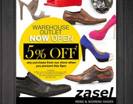 #17 untuk Flyer Design for the opening of a shoe warehouse outlet oleh mishyroach