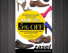 #18 untuk Flyer Design for the opening of a shoe warehouse outlet oleh mishyroach