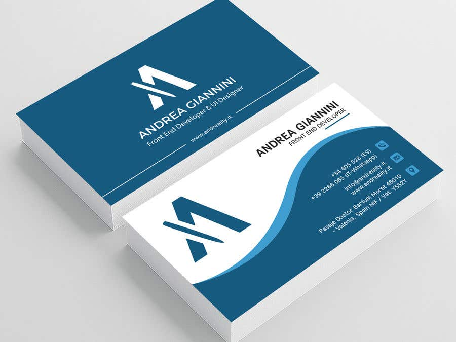 Contest Entry #267 for Andreality business cards