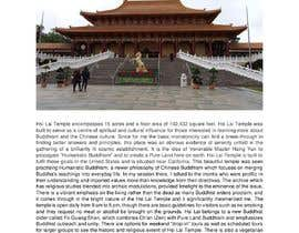 nº 10 pour Visit a Chinese Buddhist temple inside or near California and write experience par raunnayak