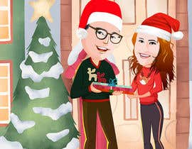 #8 for Cartoon drawings(Marvel like) of me and my girlfriend for a christmas cards af Raniaronny