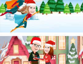 #16 for Cartoon drawings(Marvel like) of me and my girlfriend for a christmas cards af Raniaronny