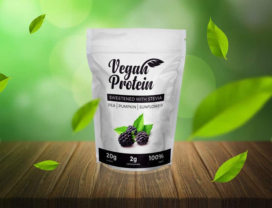 Kilpailutyö #                                        440                                      kilpailussa                                         Design a Bag for Vegan Protein