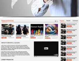 Nro 21 kilpailuun Design a Website Mockup for Earnest J. Ujaama käyttäjältä webgraphics007