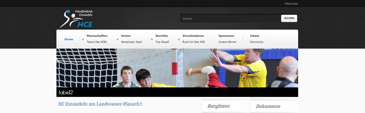 Bài tham dự cuộc thi #                                        3                                      cho                                         Logo integration into existing html template for a local sports club (handball)