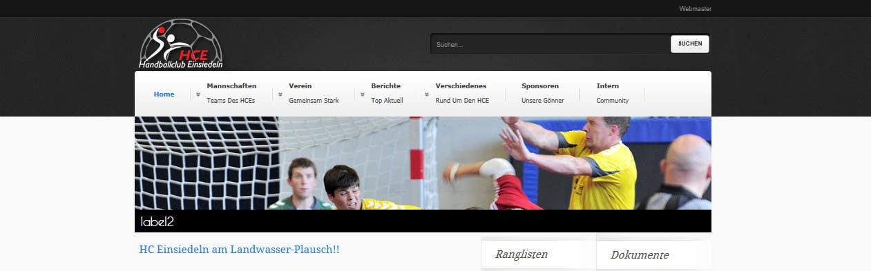 Bài tham dự cuộc thi #                                        8                                      cho                                         Logo integration into existing html template for a local sports club (handball)
