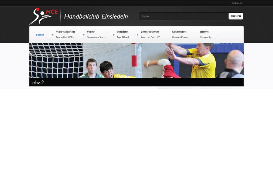 Bài tham dự cuộc thi #                                        7                                      cho                                         Logo integration into existing html template for a local sports club (handball)