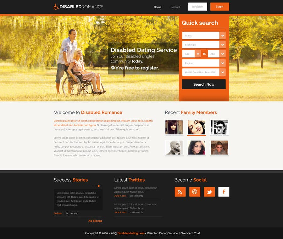 Bài tham dự cuộc thi #10 cho Website Design for Dating website homepage