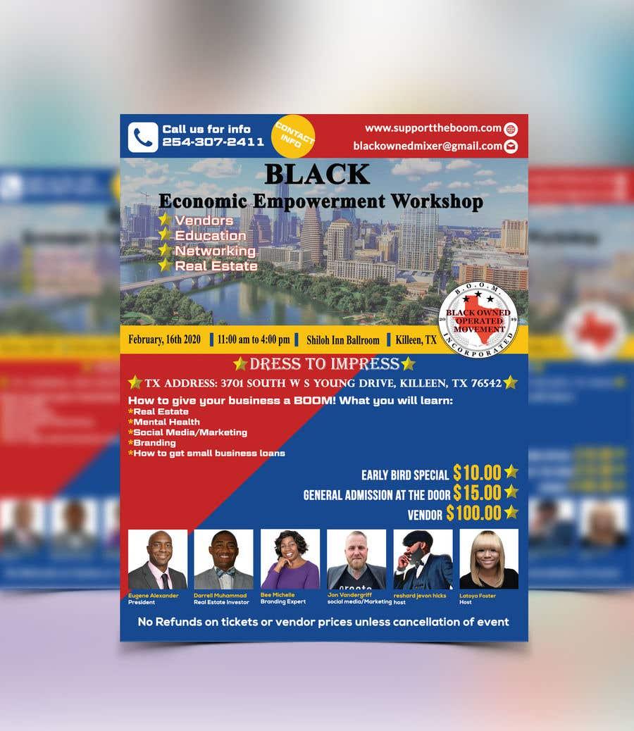 Penyertaan Peraduan #37 untuk Support The Boom Presents Black Economic Empowerment Workshop