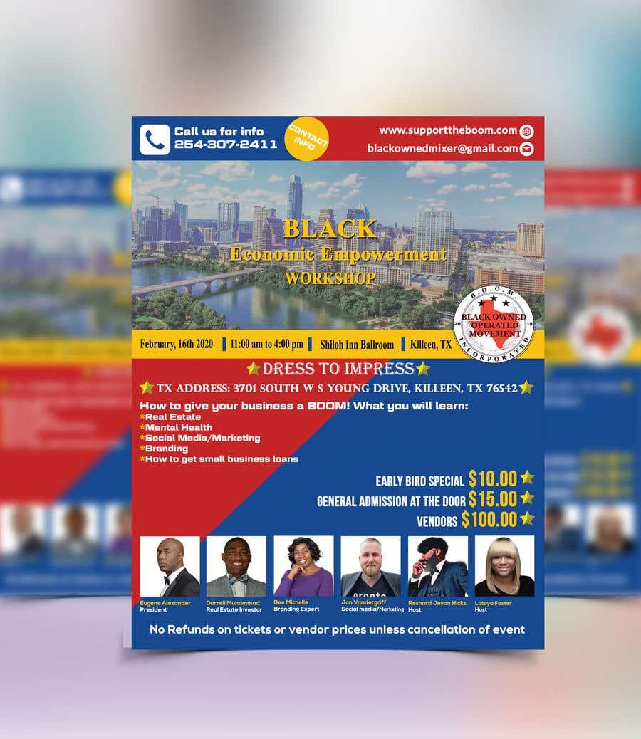Penyertaan Peraduan #38 untuk Support The Boom Presents Black Economic Empowerment Workshop