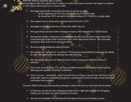 #59 cho Edit and re-design professional christmas letter bởi Khalidgd