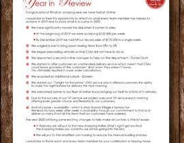 #37 для Edit and re-design professional christmas letter от anjanadutt