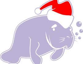 #19 for T-shirt design manatee with Christmas hat af manikmoon