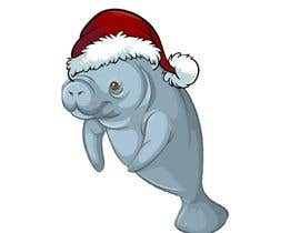 #48 for T-shirt design manatee with Christmas hat af shaimanarisha