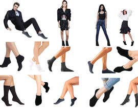 #25 pentru Photo Shop Sock images on to models for ecomerce website de către susarmin45