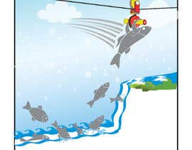 #40 para Cartoon for Salmon Swimming Upstream por maygan