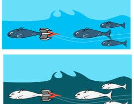 #38 for Cartoon for Salmon Swimming Upstream by YogNel