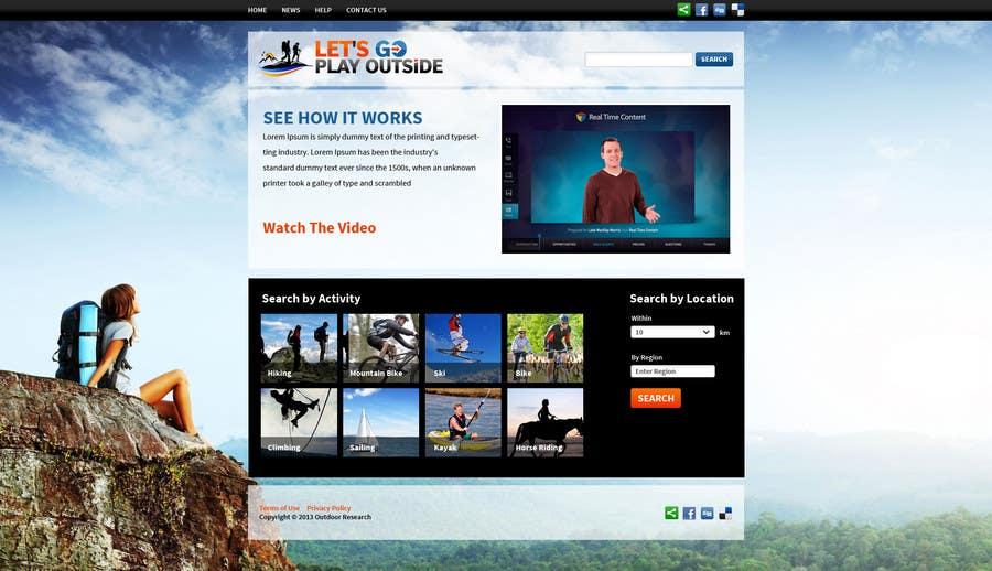 Kilpailutyö #16 kilpailussa Website Design for Let's Go Play Outside