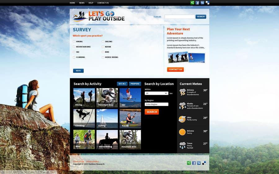 Kilpailutyö #21 kilpailussa Website Design for Let's Go Play Outside