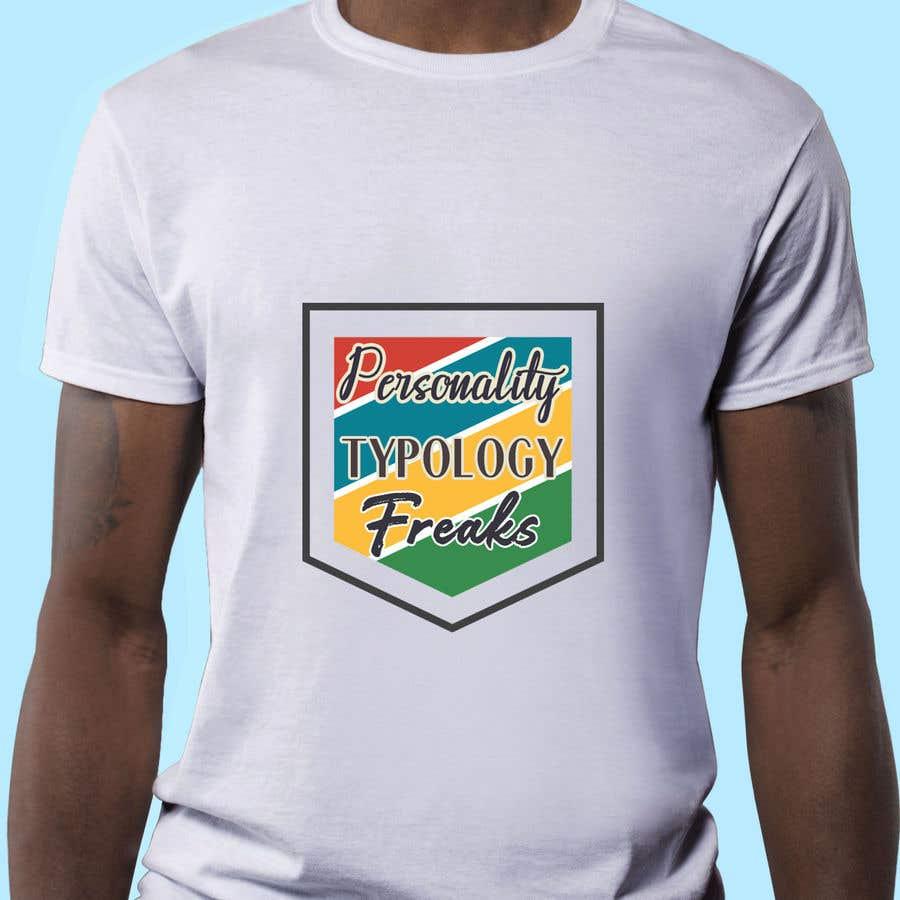 "Penyertaan Peraduan #21 untuk ""Personality Typology Freaks"" T-shirt designs, mainly typography"