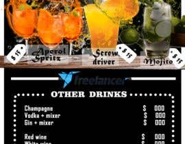 #30 для Build me an attractive stand out Cocktail Menu featuring 3 Cocktails and other drinks as well от Ammara12gulzar