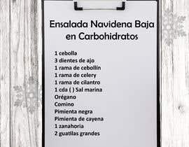 #18 untuk Diseno de Recetario Con estilo navideno oleh marinaguzman12