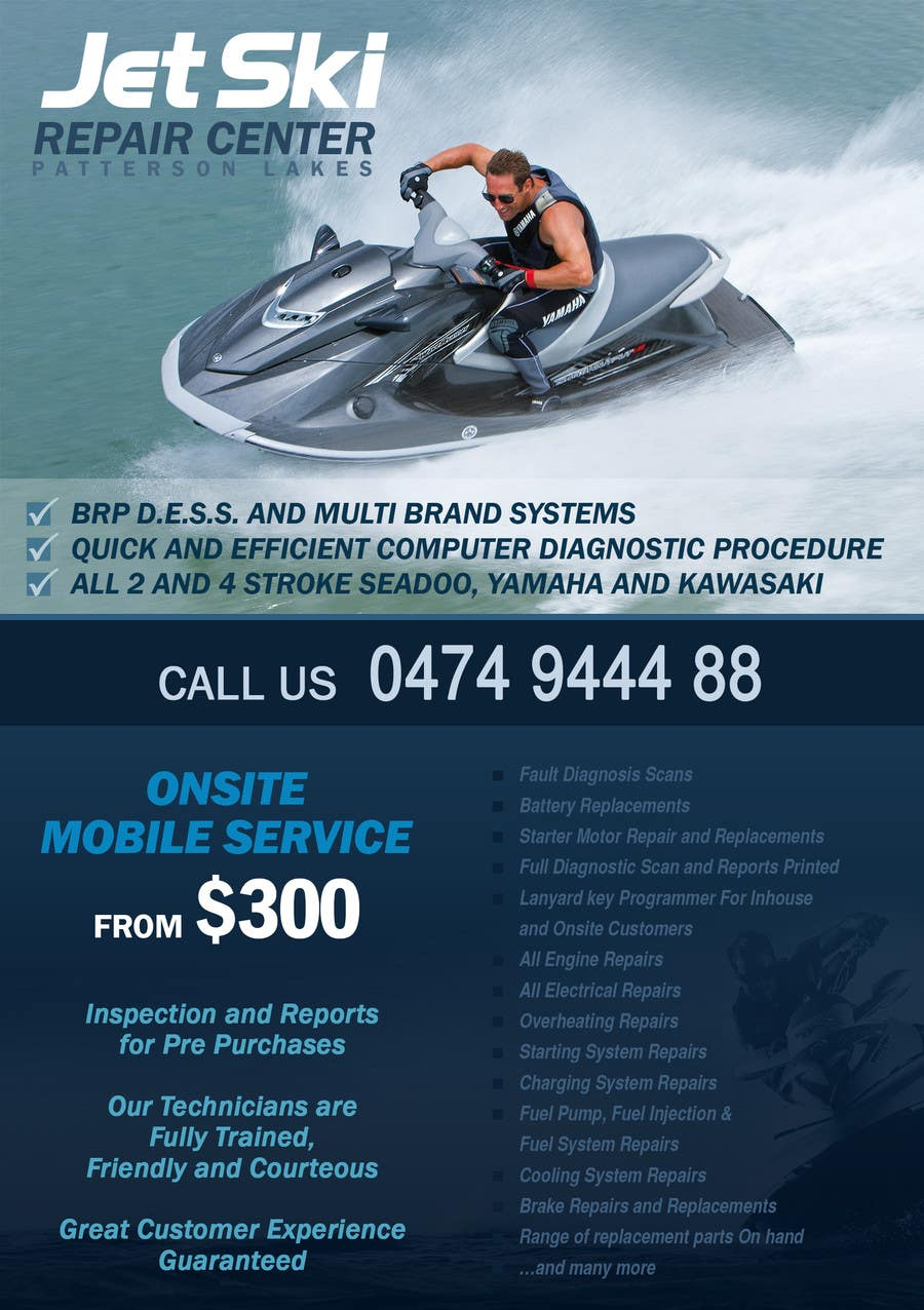 Entry #25 by Miuna for Design a Flyer for New Jet Ski Centre